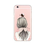 Goddess Hair Style Pattern Soft TPU Phone Case for iPhone 6/6s/6 Plus/6s Plus