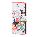 White butterfly Magnetic PU Leather wallet Flip Stand Case cover for Wiko Lenny 3