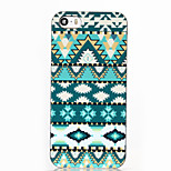 Green National Wind Pattern ABS Hard Back Case for iPhone 5/5S/SE