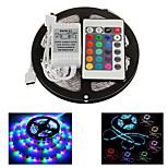 ZDM 5M 300X2835 Waterproof SMD RGB  LED Strip Light  IP65 with 24Key Remote Controller (DC12V)