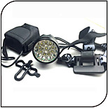 Front Bike Light / Led Headlamps 3 Mode 12000 Lumens / Rechargeable / Impact Resistant 8.4V 8800mAh battery pack