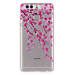 Plum Flower Pattern Embossed TPU Case for P9/ P9 Lite