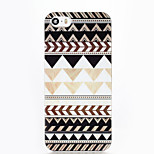 Brown Triangle ABS Hard Back Case for iPhone 5/5S/SE