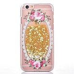 The Two Generation of Fresh Rose Flowers Painted Quicksand of Love PC Case for iPhone6/6s/6 Plus/6S Plus