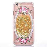 los dos generación de las flores frescas se levantó de la arena movediza caso amor PC de forma iPhone6 / 6s / 6s 6 más / pintado más