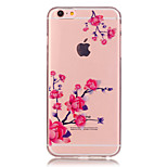Transparent Colored Plum Branch Pattern TPU Soft Case Phone Case For iPhone 6/6 Plus/6S/6S Plus