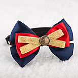 Cat / Dog Collars Adjustable/Retractable / Cute and Cuddly / Bowknot Red / Blue / Yellow Textile