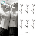 Disposable Temporary Tattoos Love Letters Pattern Waterproof Tattoo Sticker Temporary Tattooing Paper Body Art