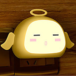 Creative Warm White Angel Light Sensor Relating to Baby Sleep Night Light(Assorted Color)