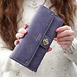 Travel WalletForTravel Storage PU Leather Black / Blue / Purple / Coffee / Rose 19.3*10