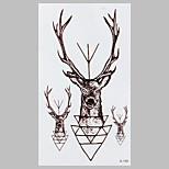 Fashion Tattoo Black Fairy Deer Waterproof Tattoo Stickers