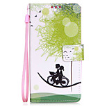 Bicycle Lovers PU Mobile Phone Holster With Card Slot for LG K7