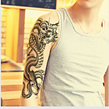 1 Sheets Black Totem Dragon Pattern Mens Temporary Tattoo Arm Leg Body Sticker Art
