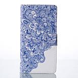 bleu et blanc peint cas de téléphone pu pour huawei p9 / p9lite