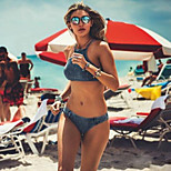 2016 European And American Vintage Denim Hot Bikini Swimsuit Ms.