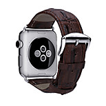 2016 New The First Layer Leather Crocodile Grain Band w/ Silver Metal Adapters for Apple Watch (Assorted Colors)
