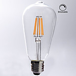 1 pcs kwb E26/E27 8W 8 COB 750 lm Warm White ST64 edison Vintage LED Filament Bulbs AC 110-130 V Dimmable