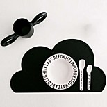 FDA Silicone Placemat Bar Mat Baby Kids Cloud Shaped Plate Mat Table Mat Set Home Kitchen Pads(Random color)