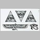 Fashion Tattoo Black Angell  Eye Waterproof Tattoo Stickers