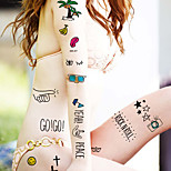 Fashion Temporary Tattoos Sexy Body Art Waterproof Tattoo Stickers Cartoon 5PCS
