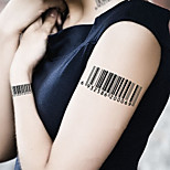 Fashion Temporary Tattoos Sexy Body Art Waterproof Tattoo Stickers Barcode 5PCS