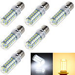 YouOKLight® 6PCS E14/E27 4W  48*SMD5730  Warm White Cold White CRI>80 LED Corn Bulbs Lamp(AC110V-120V/220V-240V)