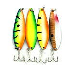Hengjia 5pcs Hot Mult Color Shiny Spoon Metal Fishing Lures  72mm 18g Spinner Baits Random Colors
