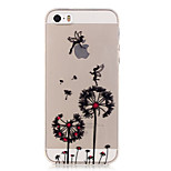 Transparent Colored Dandelion Pattern TPU Soft Case Phone Case For iPhone 5/5S/SE