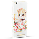 Relief Pattern Silicone Material Back Cover for Redmi 3