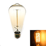 Zweihnder W410 E27  40W 500LM 3000-3500K ST64 Tungsten Core Warm Light Filament lamp(AC 110-130V)