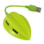 USB 2.0 4 Ports/Interface USB Hub Lovely Fruit Carambola 7*2*2