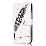 PU Leather Embossed Black Feather Wallet Case with 9 Card Slots for iPhone 6s 6 Plus