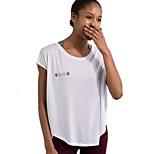 Running Sweatshirt Women's Short Sleeve Breathable / Quick Dry Cotton Fitness / Leisure Sports / Running Sports Sports Wear LooseIndoor /