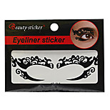 Abstract Fashion Lace Hollow Black Face Sticker YT-014