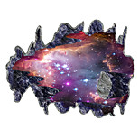 3D Wall Stickers Wall Decals Style Space Galaxy Meteorite PVC Wall Stickers