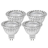IENON® 4 pcs 3W GU5.3(MR16) LED Spotlight MR16 1 COB 240-270 lm Warm White / Cool White Decorative DC 12 / AC 12 V