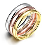 Simple Delicate Unisex's  Gold-Plated Titanium Steel Couple Rings(Golden,Rose Gold,Silver)(1Pc)