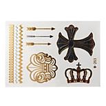 Lovely Waterproof Metal Elephant Gold Face Sticker W203