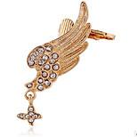 Unisex Fashion Gold/Silver Wings Stud Ear Cuffs Earrings Jewelry