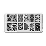 BlueZOO Rectangle Printing Nail Art Stamping (C-035)