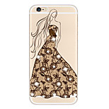 Full Body Case Transparent Body Lace Printing TPU SoftApple iPhone 6s Plus/6 Plus / iPhone 6s/6