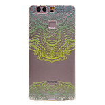 TPU Material Green Mask Pattern Slim Phone Case for Huawei P9 Lite/P9