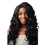 Europe And The United States Sell Black Side 28 Inch Long Hair Big Wig