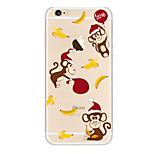 Kakashi Little Fresh Series TPU Painting Soft Case for iPhone 6s / 6 /6s Plus / 6 Plus(Monkey)