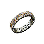 Hot Sale women durable wedding Promise Ring two color for choice