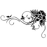 Wall Stickers Wall Decals Style Flower Vine PVC Wall Stickers