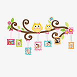 Family Photo Stickers Cartoon Owl Living Room Bedroom Wall Stickers DIY Removable Wall Decals