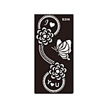 1pc Women Body Butterfly Flower Henna Indian Airbrush Stencil I Love You Temporary Tattoo Sticker S208