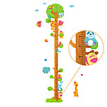60-180cm Animals Tree Height Stickers Removable Children's Bedroom Kindergarten Wall Stickers