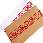 No. 5 red antique old envelopes (random pattern)